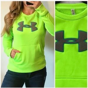 UNDER ARMOUR Storm Neon Cold Gear Sweatshirt Small